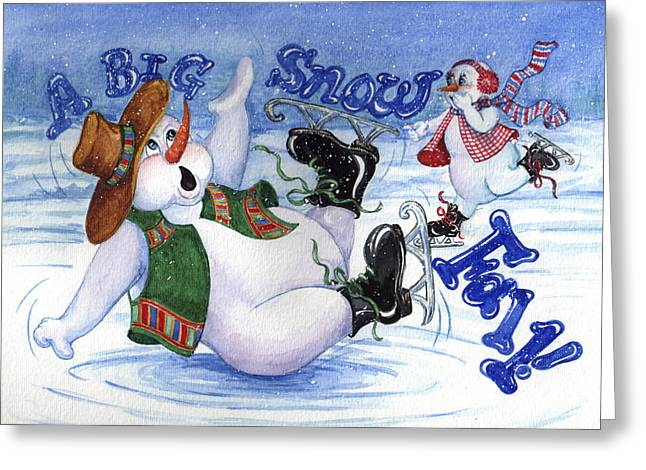 A Big Snow Fall Greeting Card