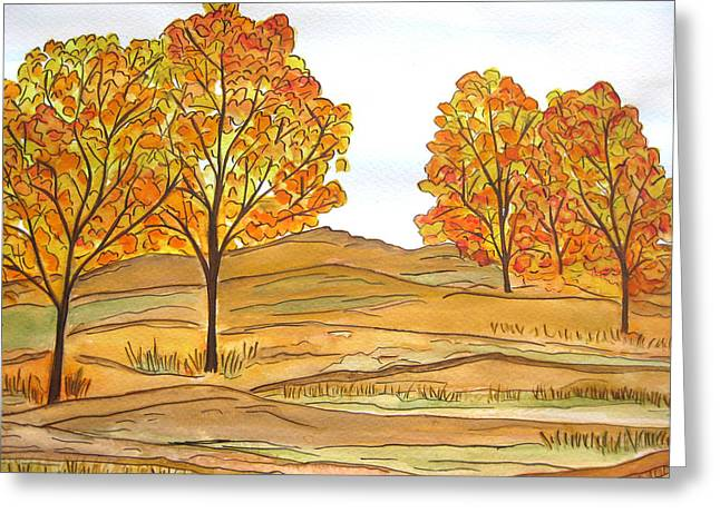 A Bit Of Fall Greeting Card
