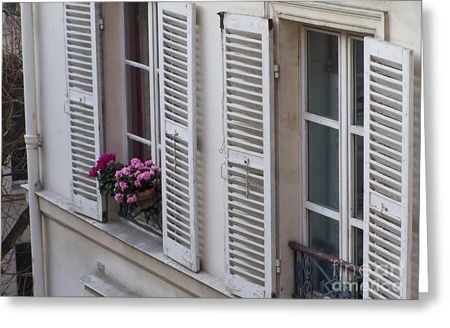 A Bouquet In My Window Greeting Card by Jennifer Sabir