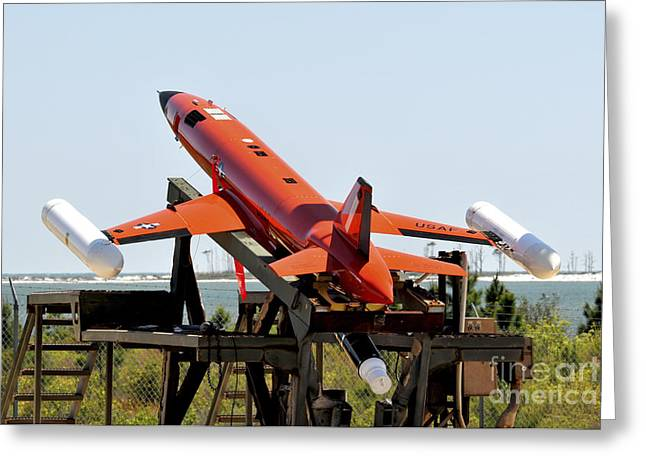 A Bqm-167a Subscale Aerial Target Greeting Card by Stocktrek Images