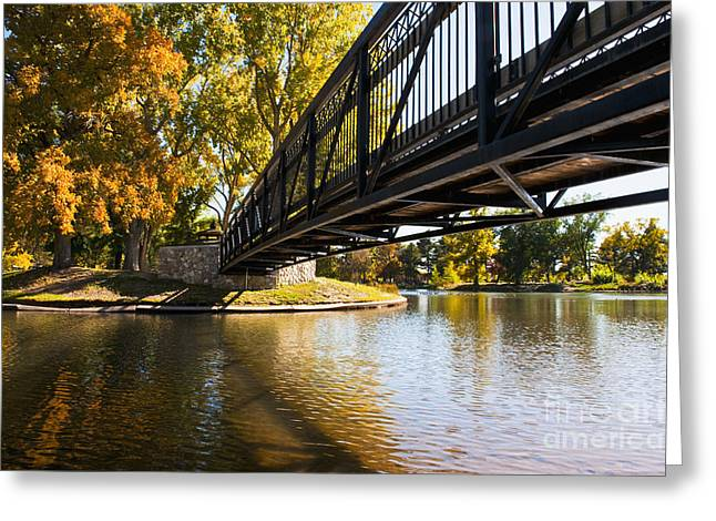 A Bridge Crossing Water To An Island Greeting Card by Thom Gourley/Flatbread Images, LLC