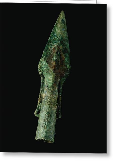 A Bronze Spear Found In Greeting Card by O. Louis Mazzatenta