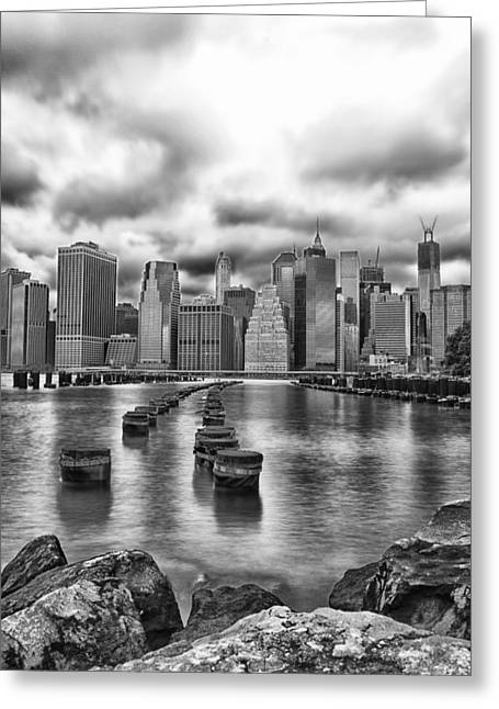A Brooklyn View Greeting Card by Sara Hudock