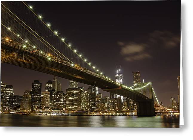 A Brooklyn View Greeting Card by Alex Ching