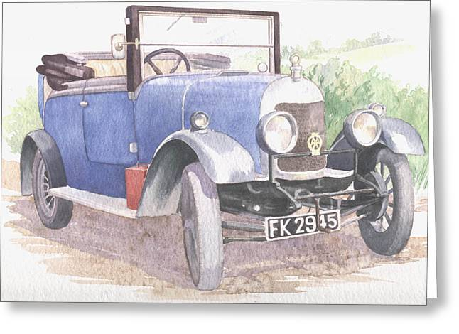 A Bull-nose Morris Greeting Card by Maureen Carter