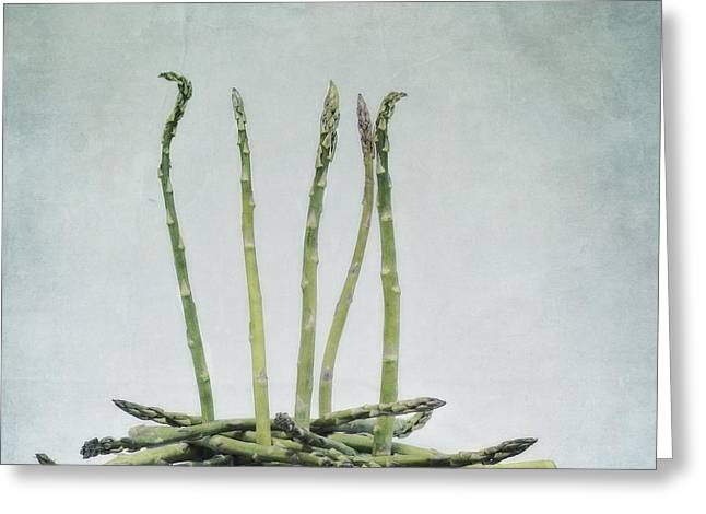 A Bunch Of Asparagus Greeting Card by Priska Wettstein