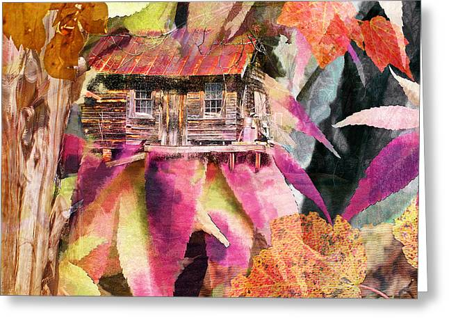 A Cabin In The Woods - A Novel Greeting Card by Larry Bishop