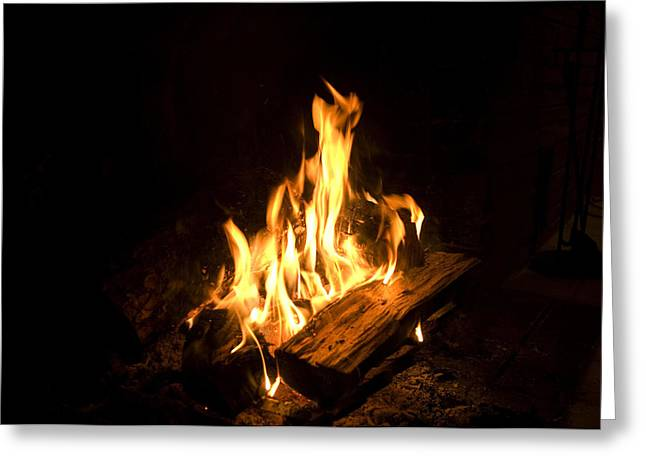A Campfire In Halsey, Ne Greeting Card by Joel Sartore