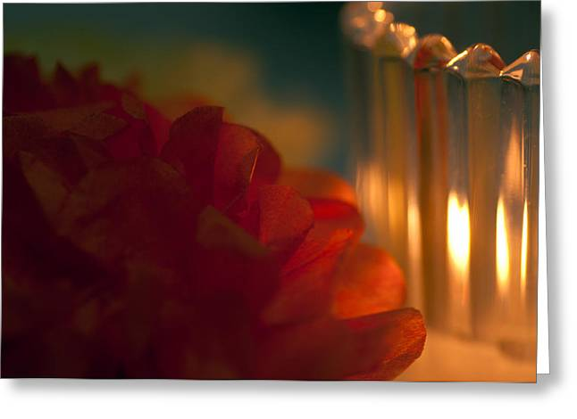 A Candle Glows Greeting Card