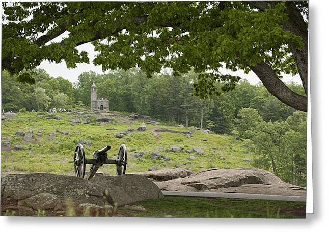 A Cannon At Gettysburg Battlefield Greeting Card