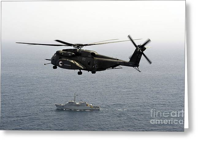 A Ch-53 Sea Stallion Flies Greeting Card by Stocktrek Images