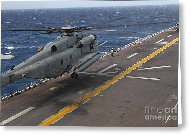 A Ch-53 Super Stallion Helicopter Greeting Card by Stocktrek Images
