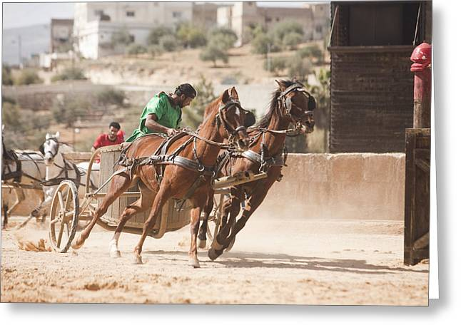 A Chariot Race In The Hippodrome Greeting Card by Taylor S. Kennedy