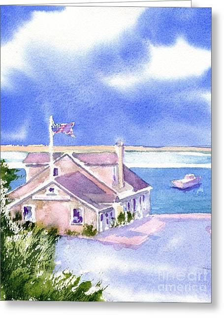 A Chatham Fish Market Greeting Card by Joseph Gallant