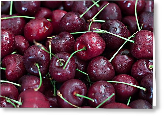 A Cherry Bunch Greeting Card by Sherry Hallemeier