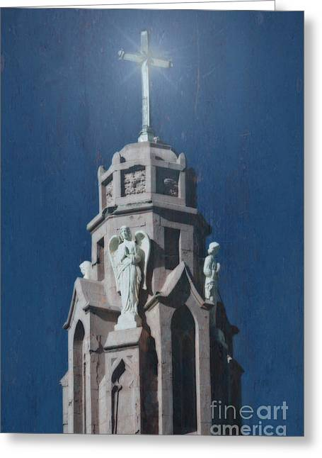 A Church Tower Greeting Card