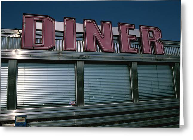 A Classic Diner Sign To Pull In Hungry Greeting Card by Stephen St. John