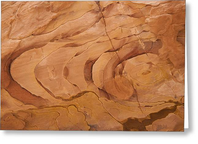 A Close View Sandstone Rocks Of Petra Greeting Card by Taylor S. Kennedy