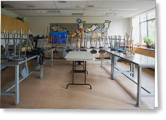 A Community Centre Art Room And Studio Greeting Card by Marlene Ford
