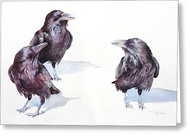 A Conspiracy Of Ravens Greeting Card