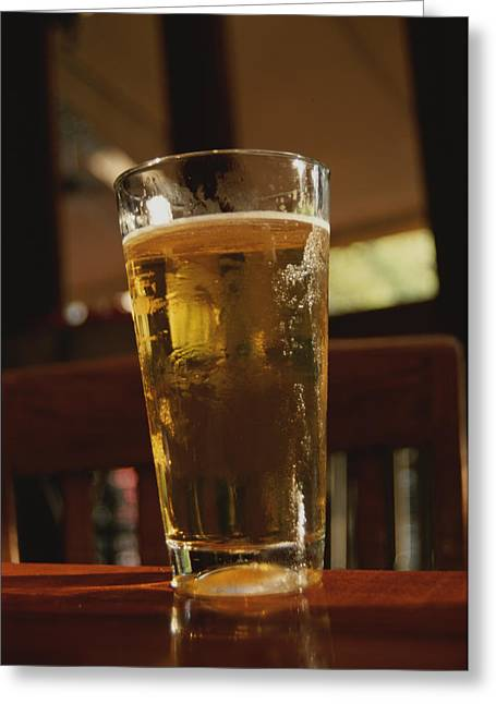 A Cool Glass Of Amber Beer Greeting Card by Stephen St. John