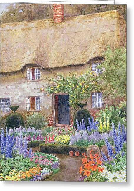 A Cottage Garden In Full Bloom Greeting Card