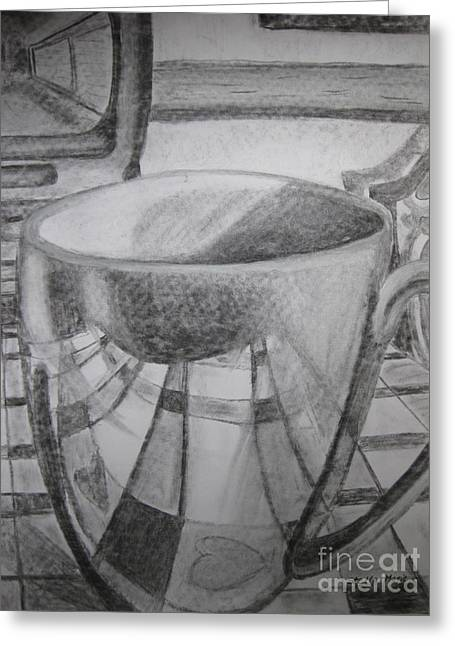 A Cup Of Reflections Greeting Card