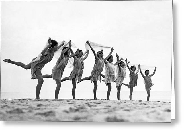 A Dance To The Morning Sun Greeting Card by Underwood Archives