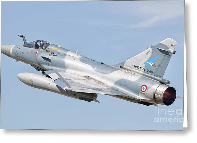 A Dassault Mirage 2000c Of The French Greeting Card