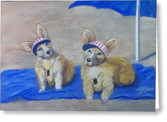 A Day At The Beach Greeting Card by Trudy Morris