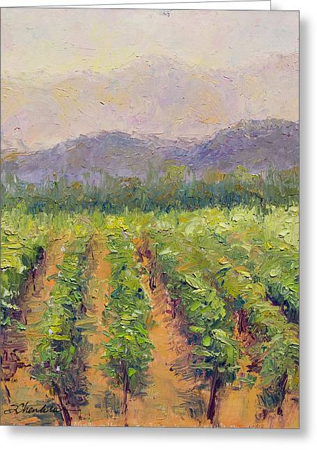 A Day At The Vineyard Greeting Card by Sandra Charlebois