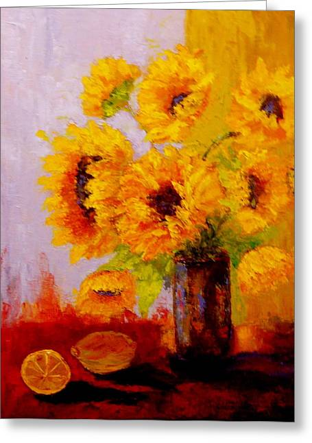 A Day Of Sushine Greeting Card by Marie Hamby
