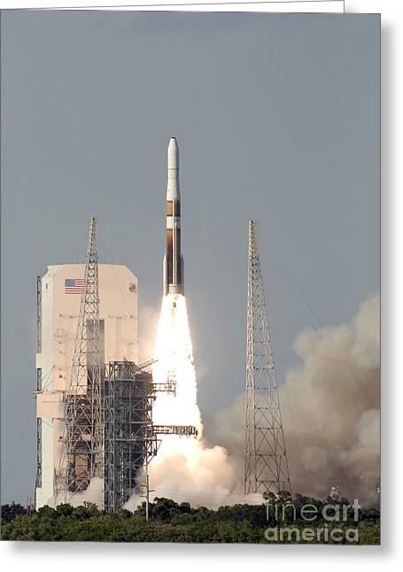A Delta Iv Rocket Lfits Greeting Card by Stocktrek Images