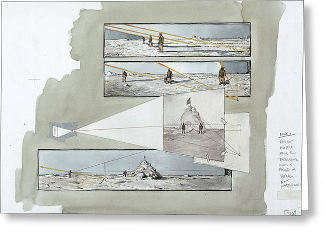 A Diagram Examines Photographs Greeting Card