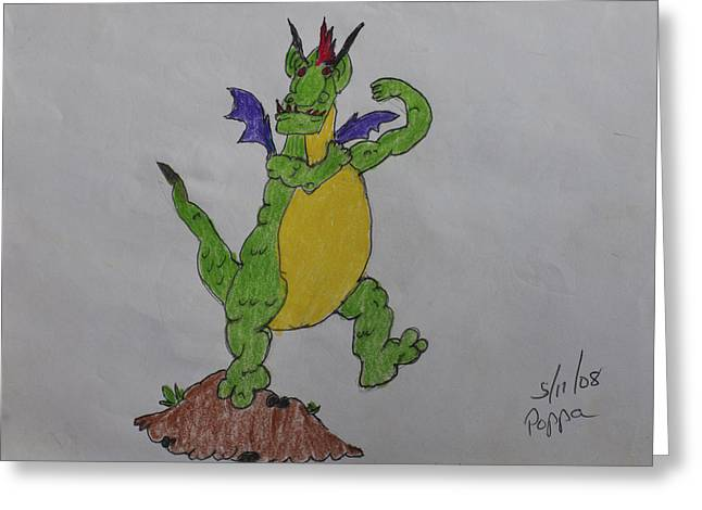 A Dragon Cartoon Character Greeting Card