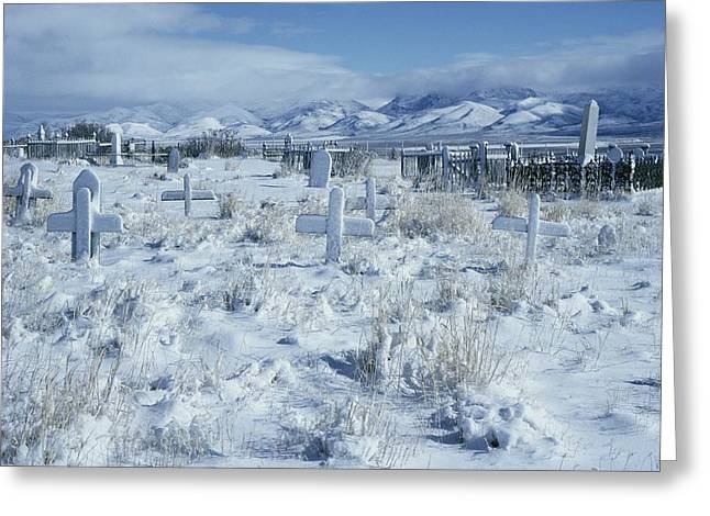 A Dramatic Winter Scene Greeting Card by David Boyer