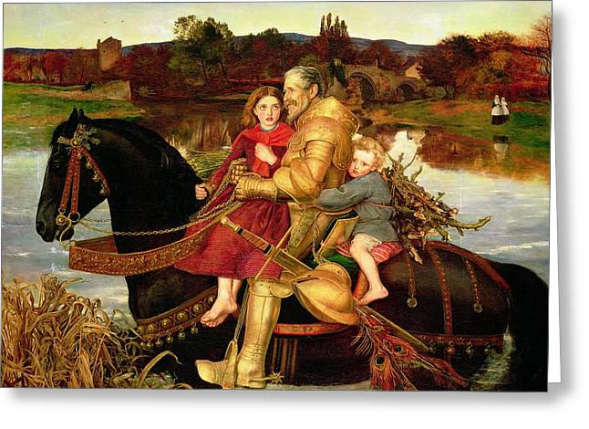 A Dream Of The Past Greeting Card by Sir John Everett Millais