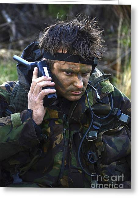 A Dutch Patrol Commander Communicates Greeting Card by Andrew Chittock
