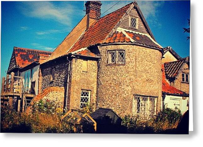 A #fairytale-like #cottage In Greeting Card