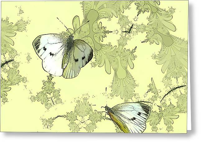 A Feuilles Vertes  Greeting Card by Sharon Lisa Clarke