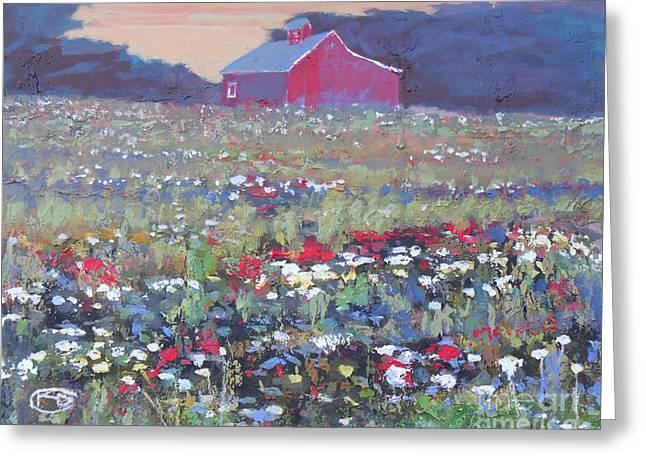A Field Of Flowers Greeting Card by Kip Decker