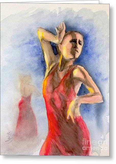 A Flamenco Dancer  2 Greeting Card