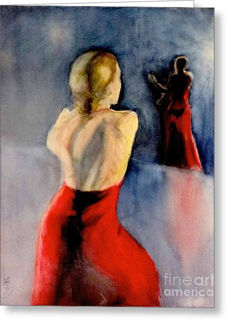 A Flamenco Dancer  3 Greeting Card by Yoshiko Mishina