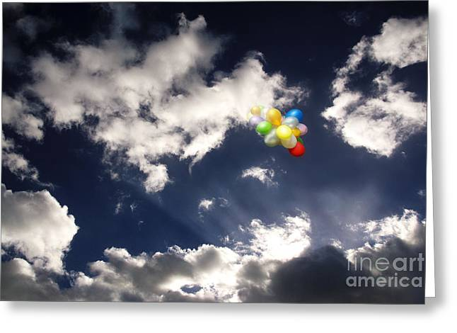 Greeting Card featuring the digital art A Flight From Drama by Rosa Cobos