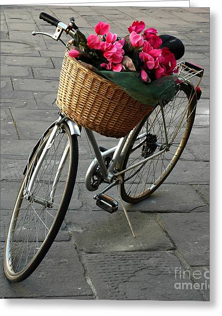Greeting Card featuring the photograph A Flower Delivery by Vivian Christopher