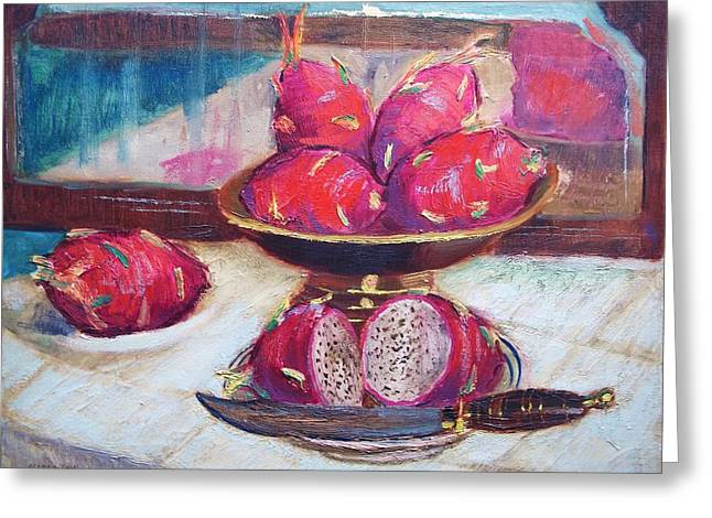 Credenza Greeting Cards - A Fruity Fruit Greeting Card by Bill Joseph  Markowski