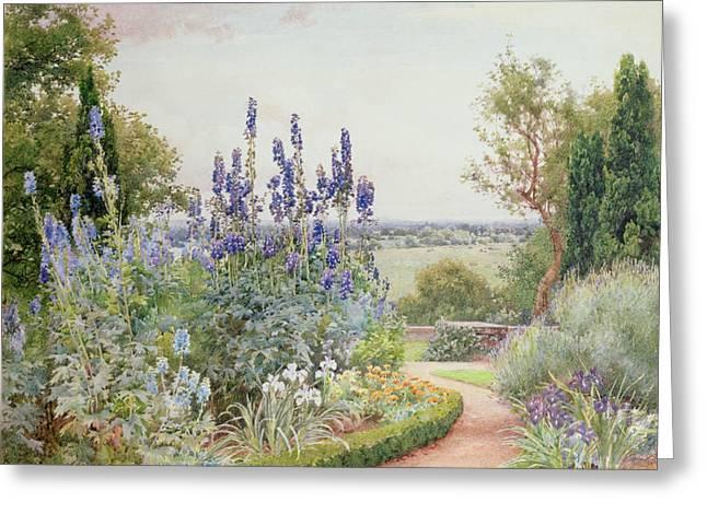 A Garden Near The Thames Greeting Card