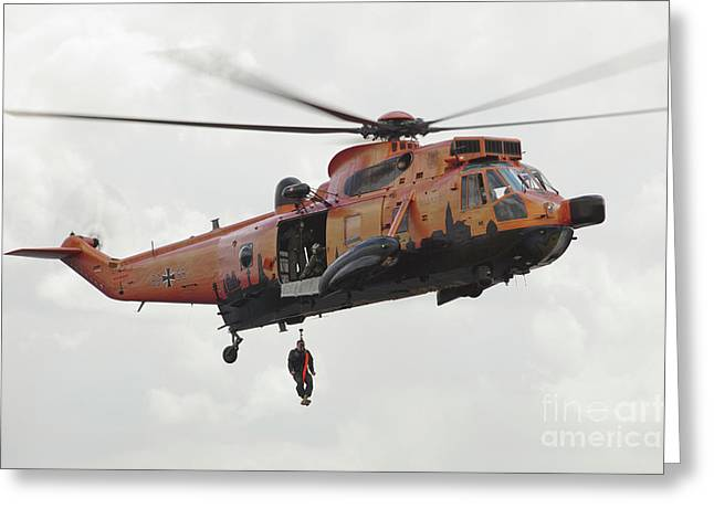 A German Ws-1 Sea King Greeting Card by Timm Ziegenthaler