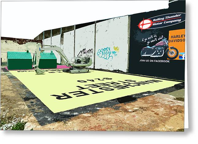 A Giant Sized Game Of Monopoly Greeting Card by Steve Taylor