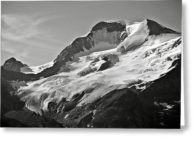 A Glacier In Jasper National Park Greeting Card by RicardMN Photography